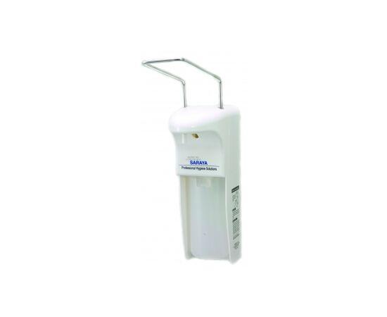 Фото 8520: Saraya MDS-500P дозатор локтевой, белый, пластик антисептик + мыло