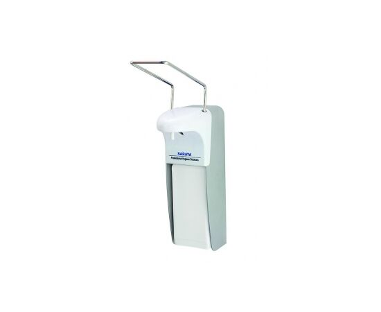 Фото 4865: Saraya MDS-1000A дозатор 1 л. локтевой, алюминий антисептик + мыло
