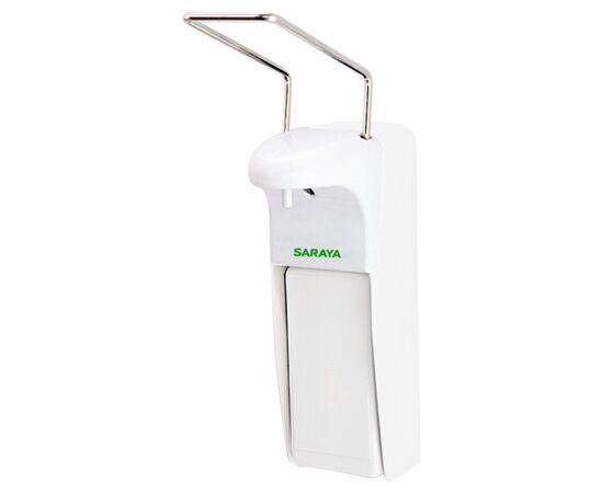 Фото 1601: Saraya MDS-1000PW дозатор локтевой, белый, 1 л. пластик антисептик + мыло