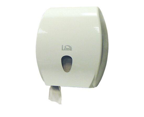 Фото 5278: Диспенсер д/туалетной бумаги Lime Kompatto 200м белый (А 8320155S)