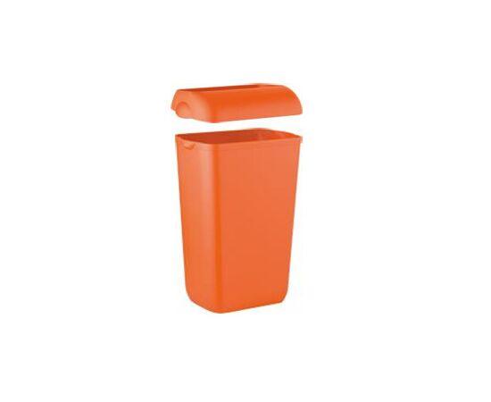 Фото 8826: Корзина д/мусора Lime  23л подвесная оранжевая (974233)