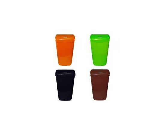 Фото 709: Корзина д/мусора Lime  23л подвесная оранжевая (974233)