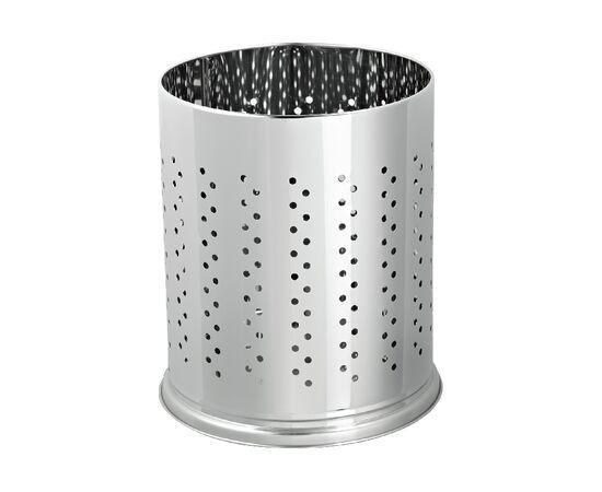 Фото 9418: Офисная корзина  для бумаг перфорированный металл  5 л Глянец