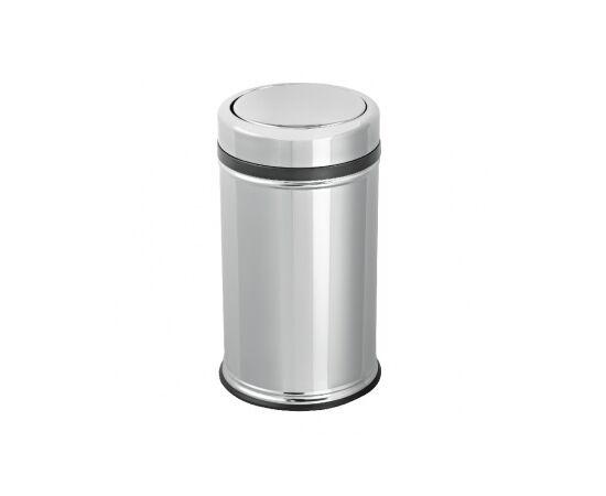 Фото 8130: Корзина для мусора  с вращающейся крышкой из нержавеющей стали 11 л  Глянец