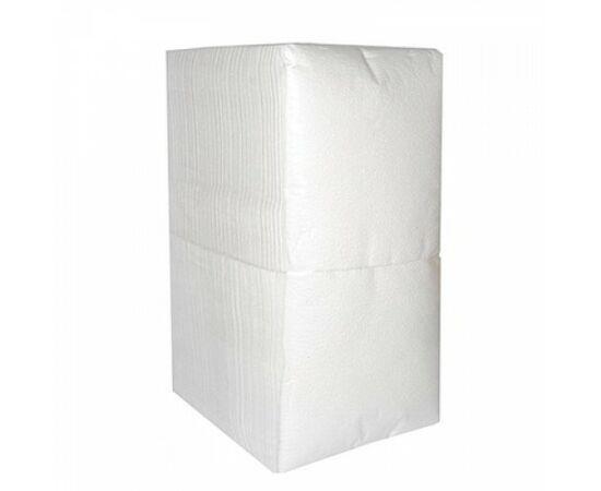 Фото 2375: Салфетки  1-сл, 24*24 см, 400 шт/пачка, белые. арт 0011