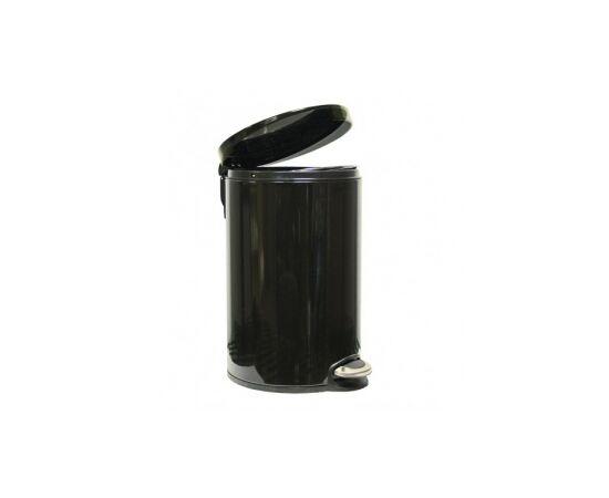 Фото 3617: Корзина для мусора с педалью Lux, 12 литров черная
