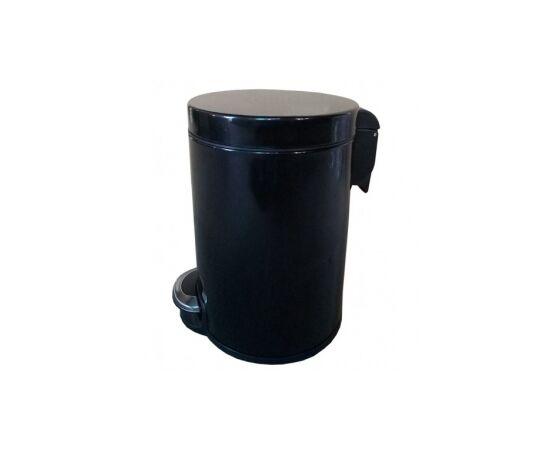 Фото 3251: Корзина для мусора с педалью Lux, 30 литров черная