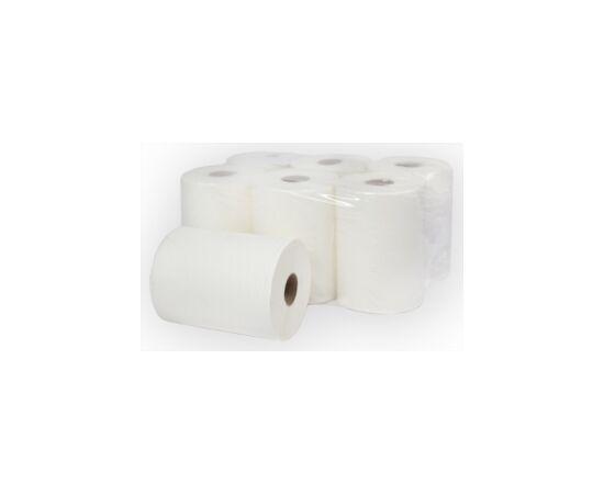 Фото 6310: Бумажные полотенца рулонные   центральной вытяжки   «Торес» , однослойные . Арт 281300-С  35гр/м
